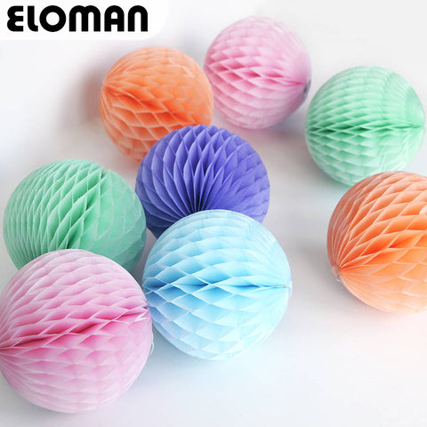 1PCS DIY colorful tissue paper pom poms craft Honeycomb Ball for wedding birthday party festive event party supplies Decor