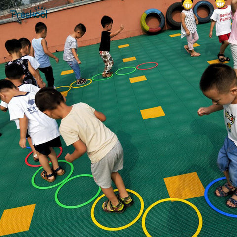 Preskool Baby Toy For Children Jumping Ring Kindergarten Teaching Aids Outdoor Sport Game Physical Fitness Training Equipment