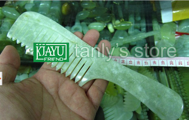 wholesale guasha comb original beauty JADE comb  randomly color traditional health care 100% natural big size