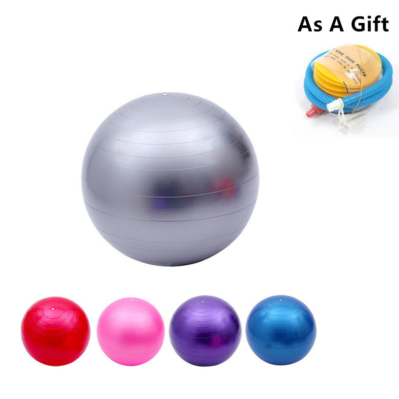 Fitness Yoga Ball Smooth Balance Fitness Gym Exercise Ball With Pump Balance Pilates Balls