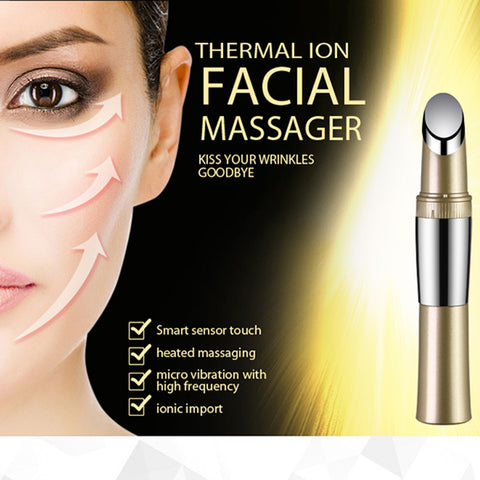 ZLIME Portable Facial Massager Compact Micro-vibration Heating Ionic Anti-aging Nutrition Booster Wrinkle Healing Skin Care Tool