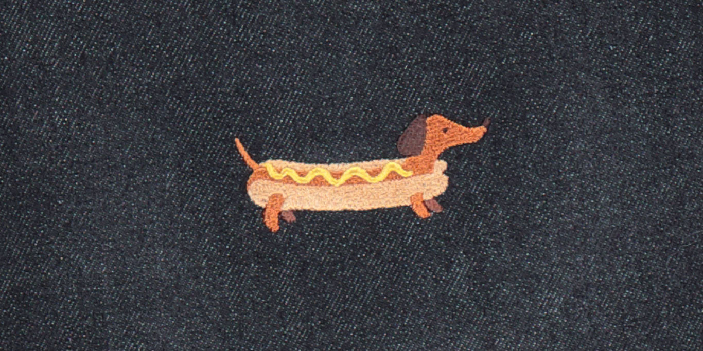 Button Fly Cushion – Hot Dog