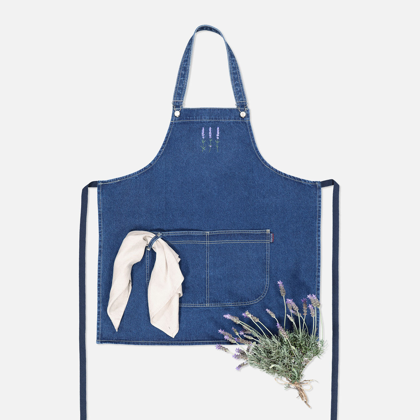 Original Denim Apron – Lavender Trio