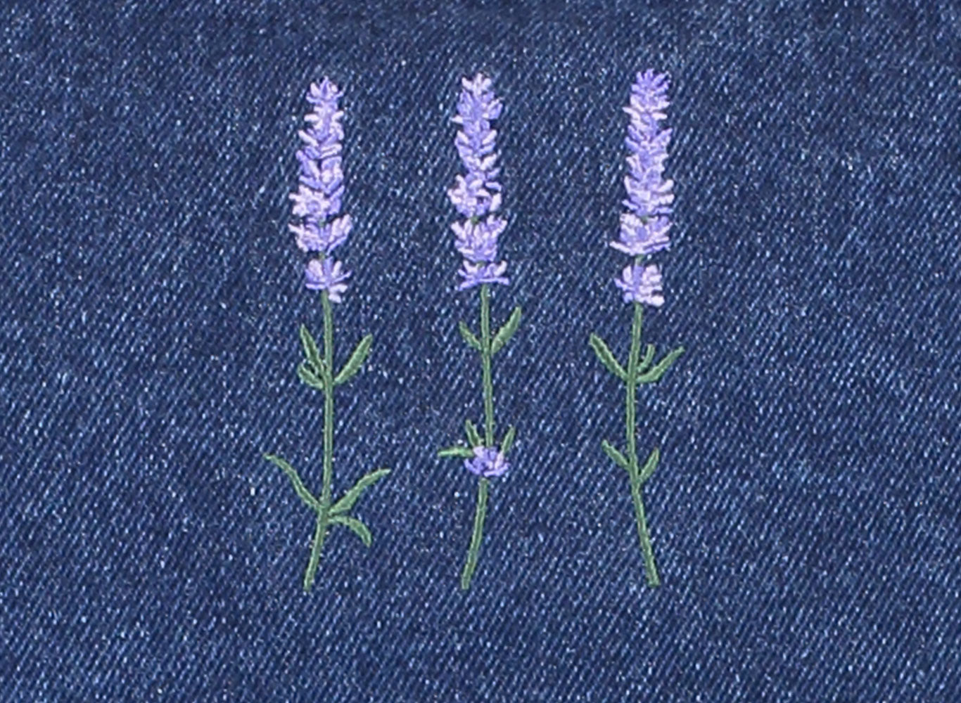Crossback Denim Apron – Lavender Trio