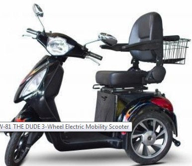 EWheels EW-81 THE DUDE 3-Wheel Electric Mobility Scooter