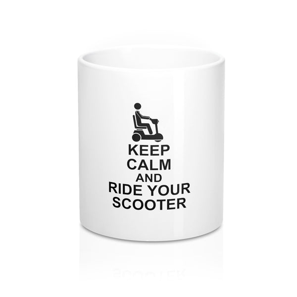 Keep Calm And Ride Your Scooter Mug