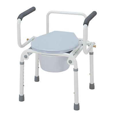 Merits Health C313 Drop-Arm Steel Commode - Mobility Ready