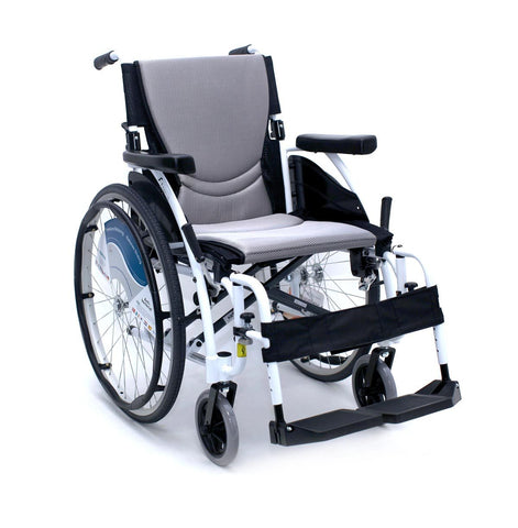 Karman S-ERGO Alpine White Manual Wheelchair - Mobility Ready
