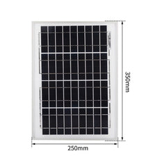 12v 10w Solar Panel Battery Charger Power Charging Caravan Camping KIT