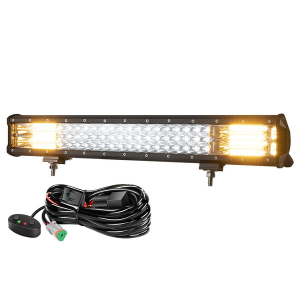 20Inch LED Light Bar Work Driving Dual color Combo Beam Offroad 4WD Truck SUV