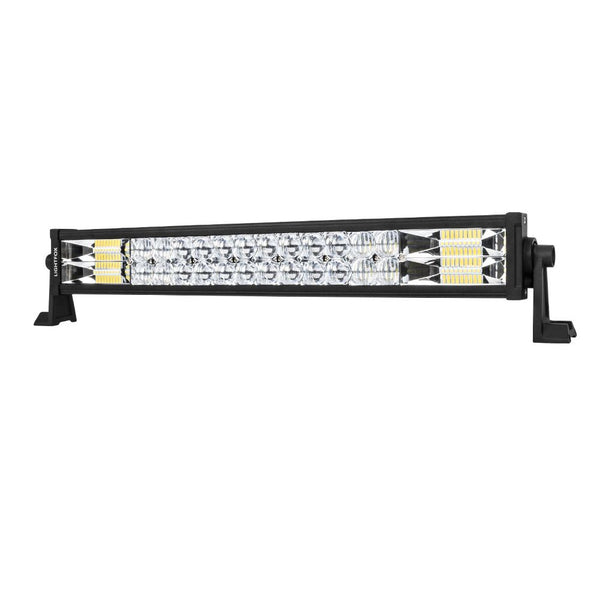 22inch Osram Philips LED Light Bar 5D Triple Flood Spot Offroad Driving 4WD 4x4
