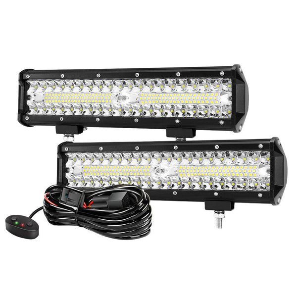 2x12inch CREE LED Work Light Bar Spot Flood OffRoad Fog Driving 4WD 4x4 Reverse