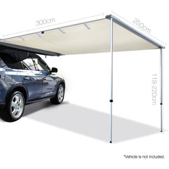 Car Shade Awning 2.5 x 3M - Beige