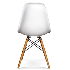 Artiss Set of 4 Retro Beech Wood Dining Chair - White