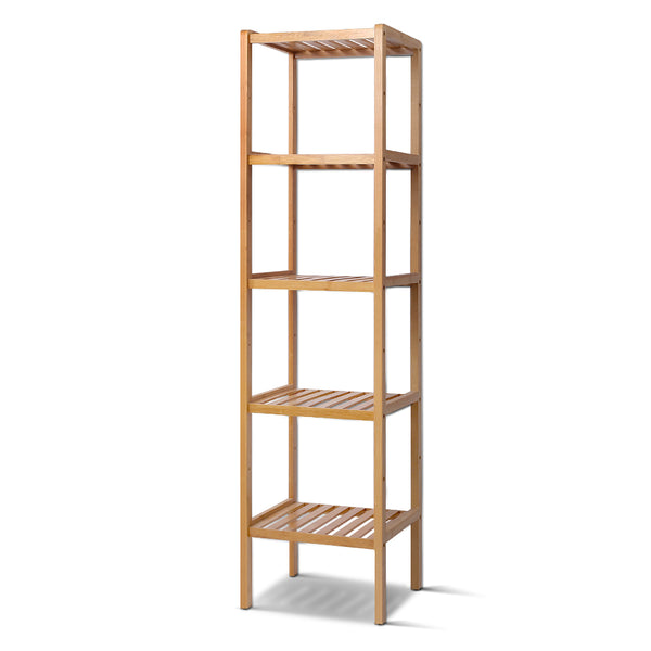 Artiss Bamboo Shelf BookShelf Bathroom Rack Organiser Display 5 Tier