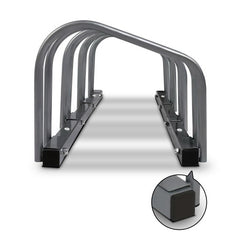 Portable Bike 4 Parking Rack Bicycle Instant Storage Stand - Silver