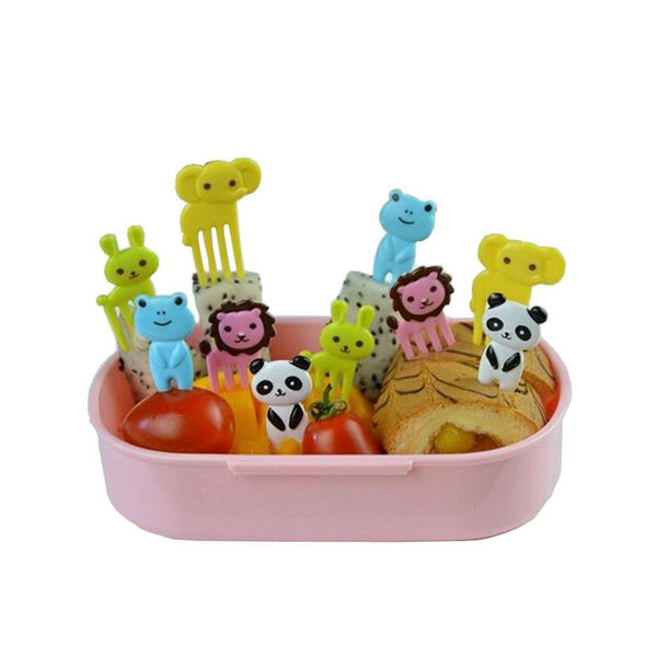 10-pieces Animals Food Picks and Forks