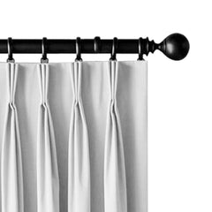 Artqueen 2X Pinch Pleat Pleated Blockout Curtains White 240cmx213cm