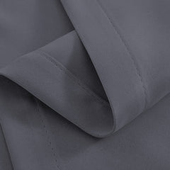 Artqueen 2X Pinch Pleat Pleated Blockout Curtains Dark Grey 180cmx230cm