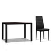 Artiss Astra 5-Piece Dining Table and Chairs Sets - Black
