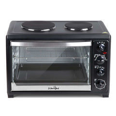 5 Star Chef 45L Convection Oven with Hotplates - Black