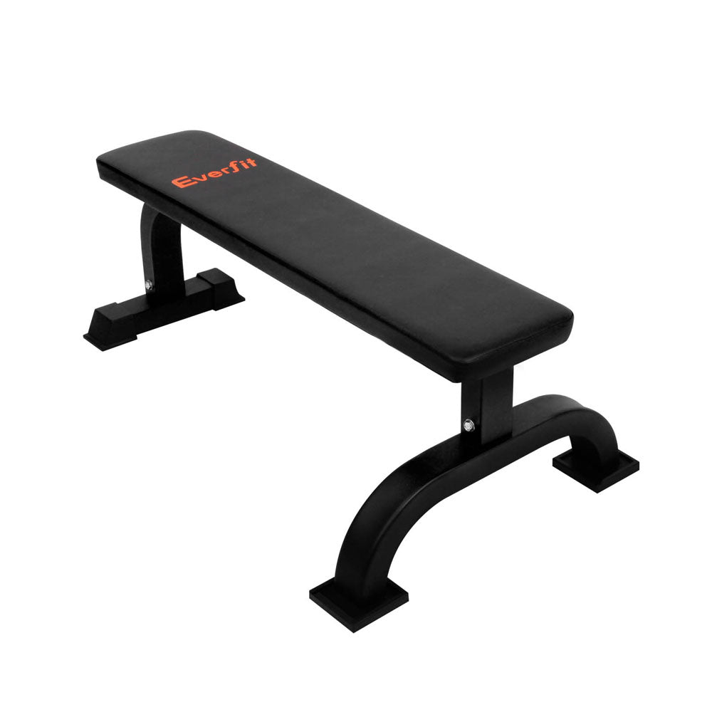 Everfit Fitness Flat Weight Bench - Black