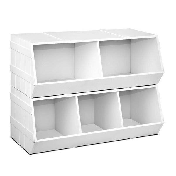 Artiss Kids Toy Storage Box - White