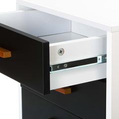 Artiss Bedside Table Cabinet Matt - Black