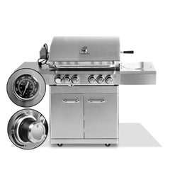 Stainless Steel 6 Burner Gas BBQ