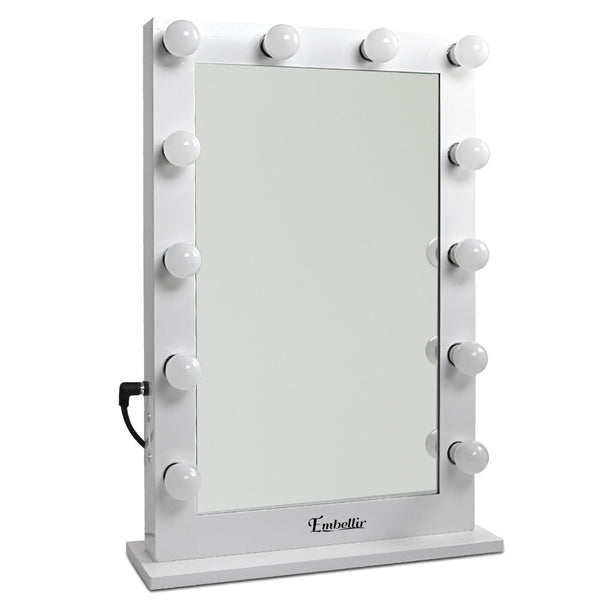 Make Up Mirror Frame with LED Lights 75x50cm White