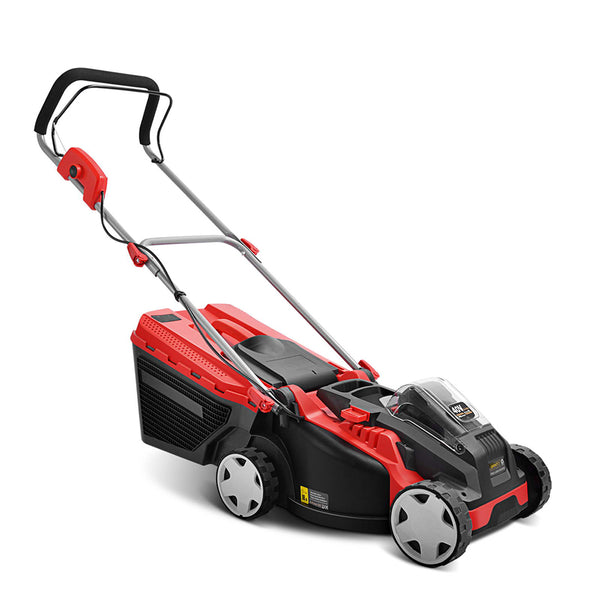 Giantz Cordless Electric Lawn Mower - Red & Black