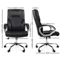 PU Leather Office Chair - Black