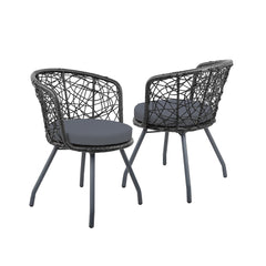 Gardeon Outdoor Patio Chair and Table - Black