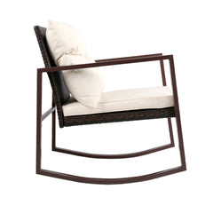 Gardeon Outdoor Chair Rocking Set - Brown