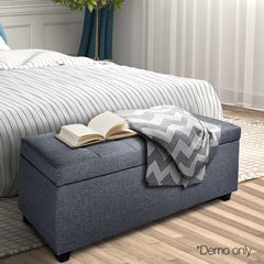 Artiss Large Fabric Storage Ottoman - Grey
