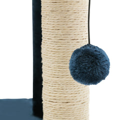 i.Pet 260cm Multi Level Cat Scratching Post - Blue