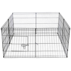 i.Pet 24inch Pet Play Pen - Black