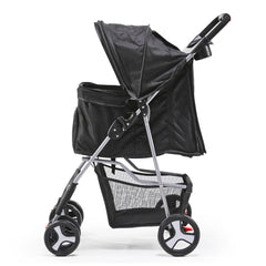 i.Pet 4 Wheel Pet Stroller - Black