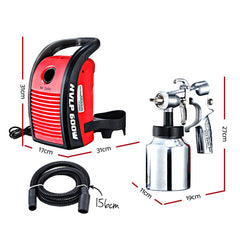 GIANTZ Electric Paint Sprayer Gun 600W HVLP DIY Spray Station Portable Strainer