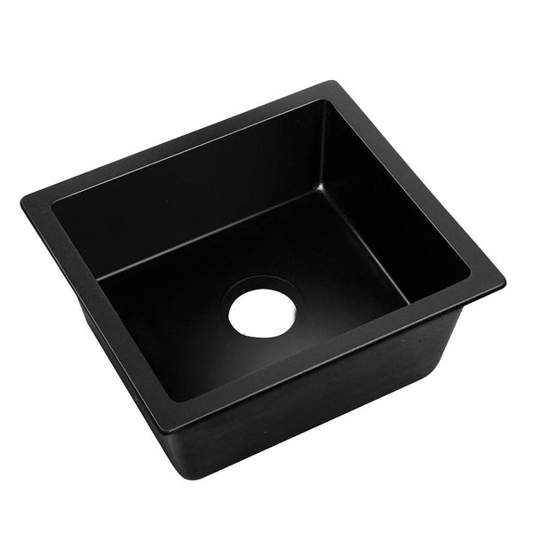 Stone Kitchen Sink Black 460 x 410