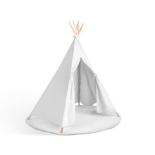 6 Poles Teepee Tent w/ Storage Bag White