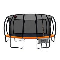 Everfit 16FT Trampoline With Basketball Hoop - Orange