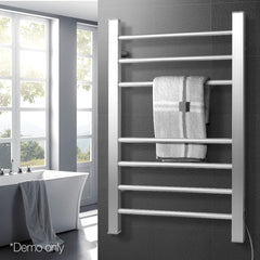 7 Rung Aluminum Electric Heated Towel Rail