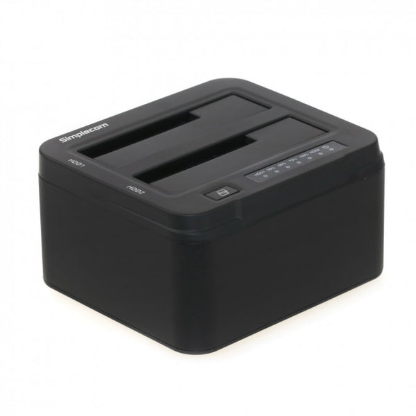 "Simplecom SD322 Dual Bay USB 3.0 Aluminium Docking Station for 2.5 and 3.5"" SATA HDD Black"""
