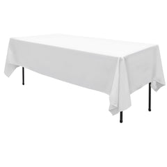 Set of 2 137 x 244 Table Cloths - White