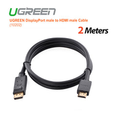 UGREEN DisplayPort male to HDMI male Cable 2M black(10202)