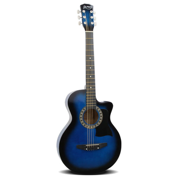 Alpha 38 Inch Wooden Acoustic Guitar - Blue