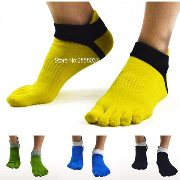 1 pair 78% Cotton Outdoor Summer Spring Men Toe Socks Sport Mesh Ankle Five Finger Socks Men's Thin Socks 39-44 6 Colors