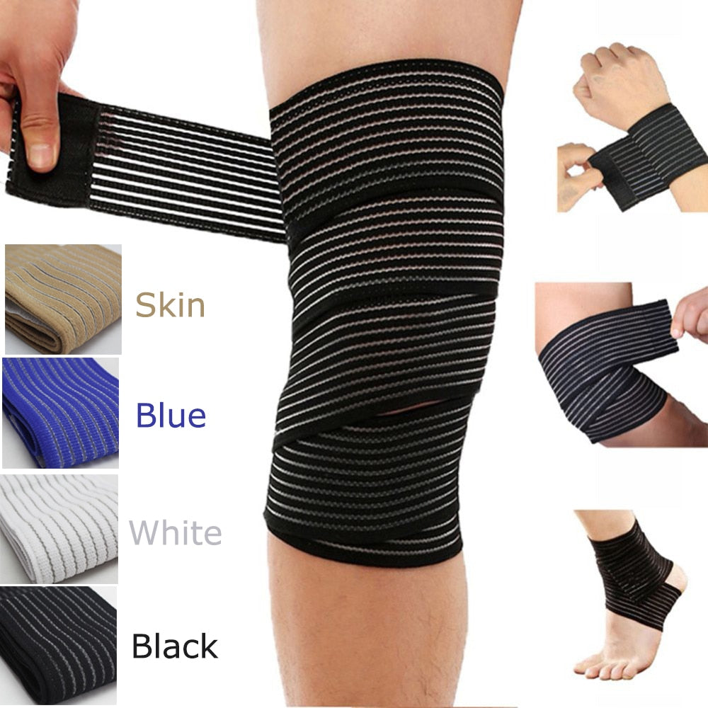 1 Pc Elastic Bandage Compression Knee Support Sports Strap Knee Protector Bands Ankle Leg Elbow Wrist Calf Brace Safety 40~180cm