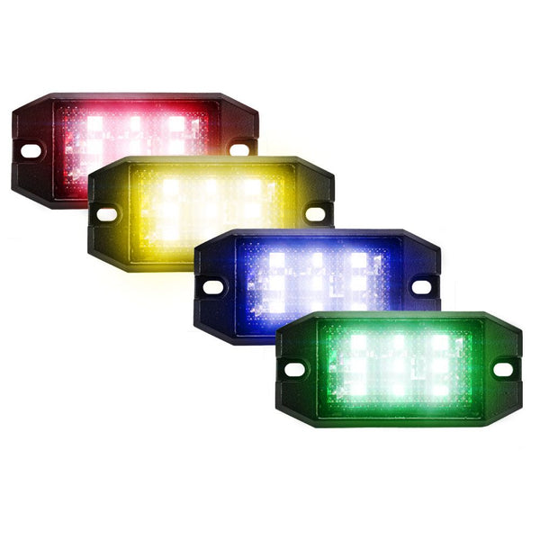 RGB LED Rock Lights with Bluetooth Control, 8 Pods 9 Chips Super Bright